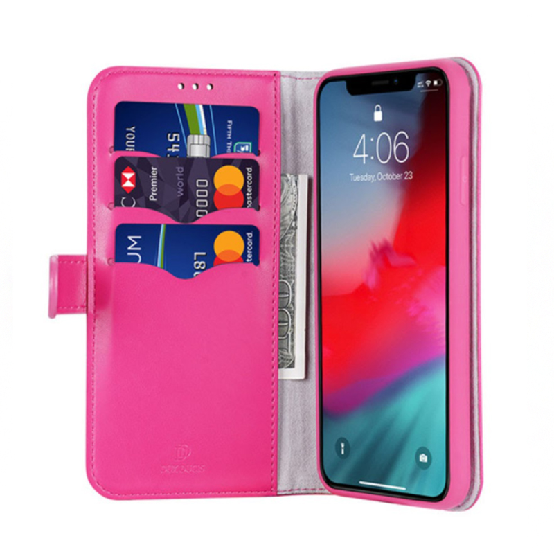 FUNDA LIBRO TARJETERO ROSA IPHONE 11