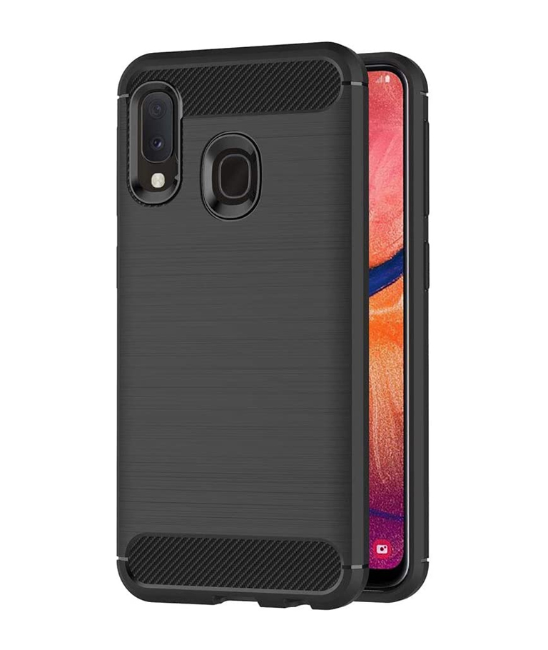 FUNDA SAMSUNG GALAXY A20E CARBON CASE NEGRO
