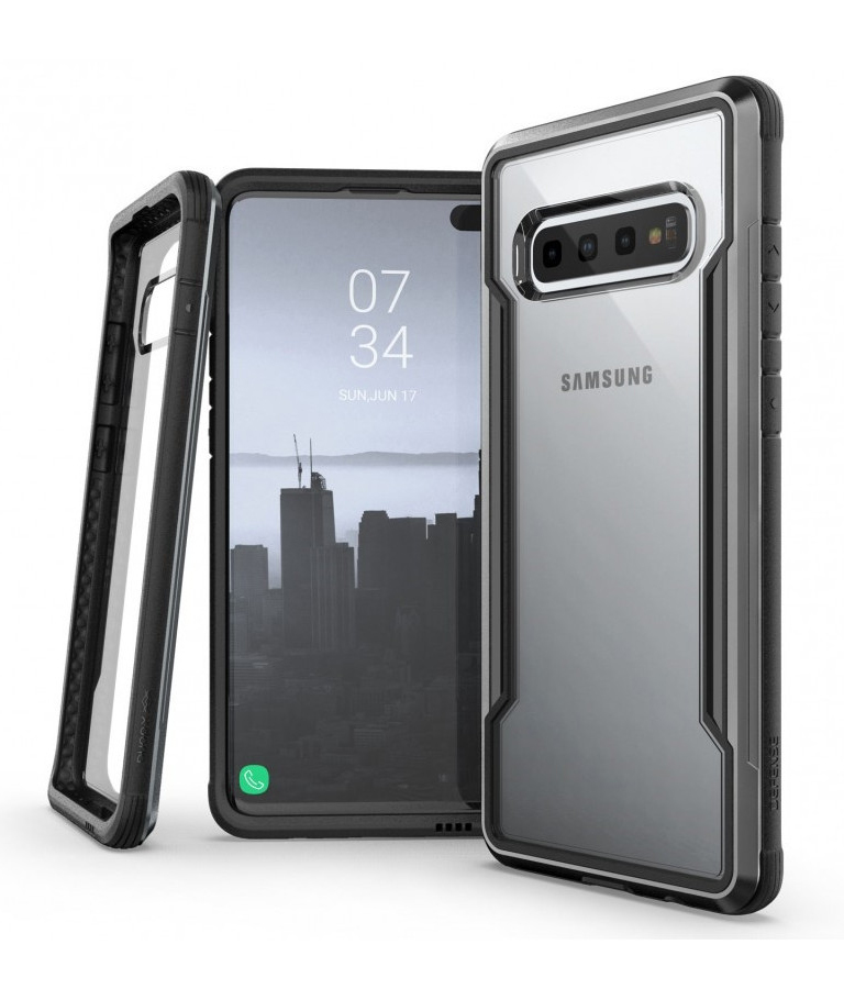 FUNDA SAMSUNG GALAXY S10 PLUS DEFENSE SHIELD X-DORIA NEGRA