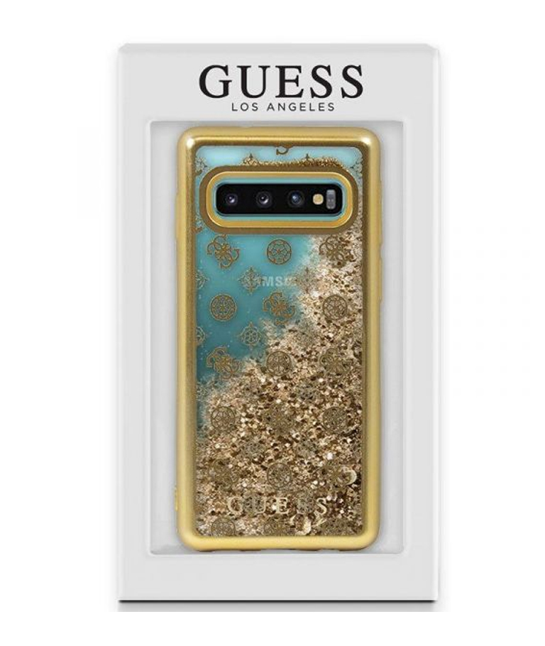 FUNDA SAMSUNG GALAXY S10 PLUS LIQUID ORO GUESS