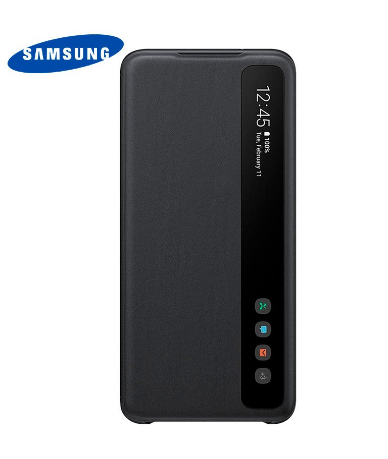 FUNDA SAMSUNG GALAXY S20 CLEAR VIEW NEGRO