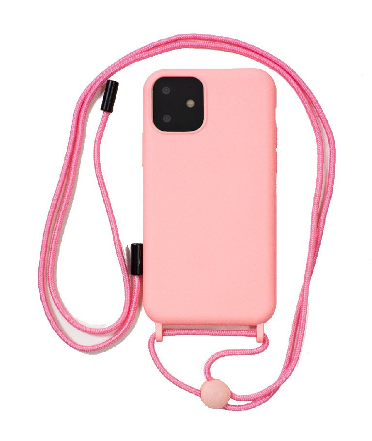 FUNDA IPHONE 11 CORDON SOFT ROSA