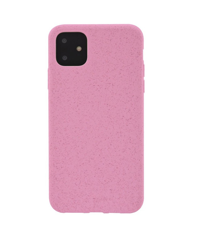 FUNDA IPHONE 11 BIODEGRADABLE ROSA 4OK