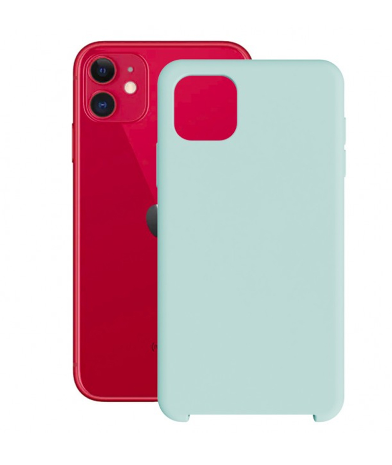 FUNDA IPHONE 11 SOFT AZUL TURQUESA