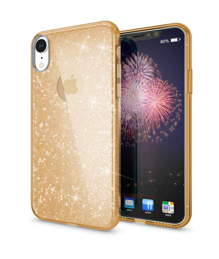 FUNDA IPHONE XR GLITTER ORO