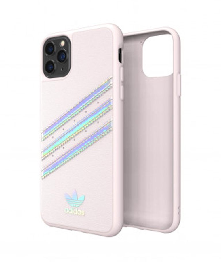 FUNDA IPHONE 11 PRO MAX STRIPES ROSA ADIDAS