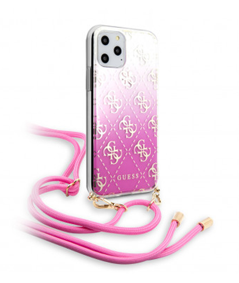 FUNDA IPHONE 11 PRO GUESS COLGANTE ROSA